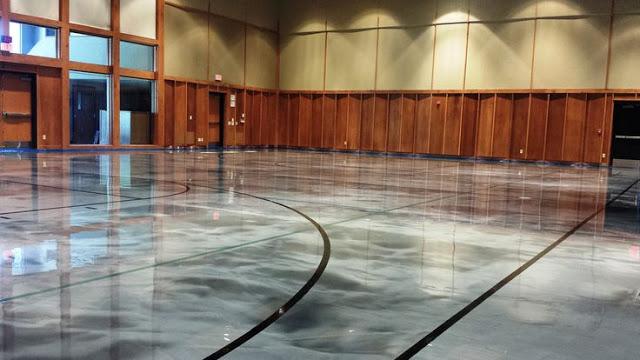 Industrial epoxy Flooring (court)