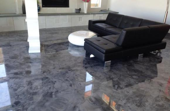 Epoxy flooring for living room